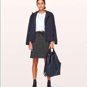 LULULEMON START ANEW Skirt Heathered Black Size 4